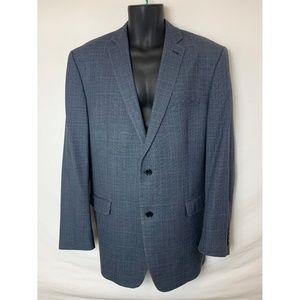 Joseph Abboud 2 Button Blue Plaid Blazer!